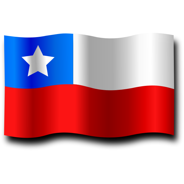 Ripple Chilean flag vector image