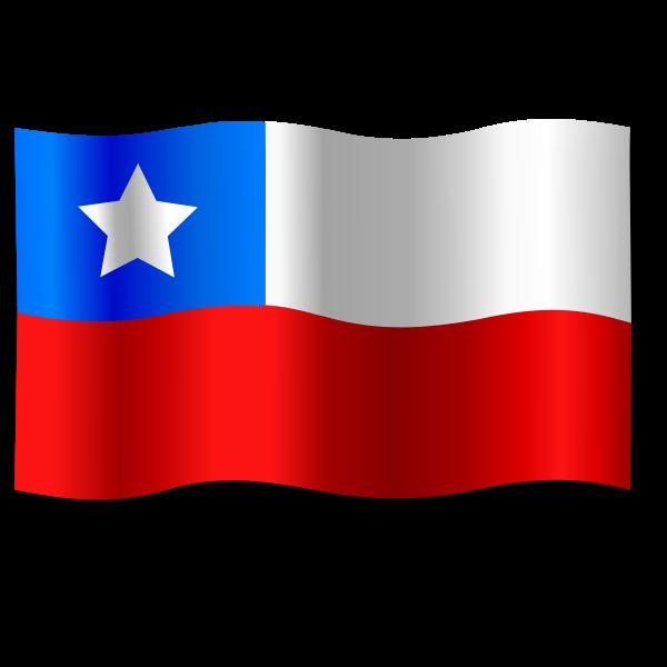 Ripple Chilean flag vector image