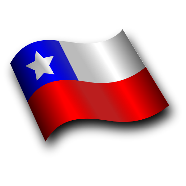 Tilted Chilean flag vector illustration