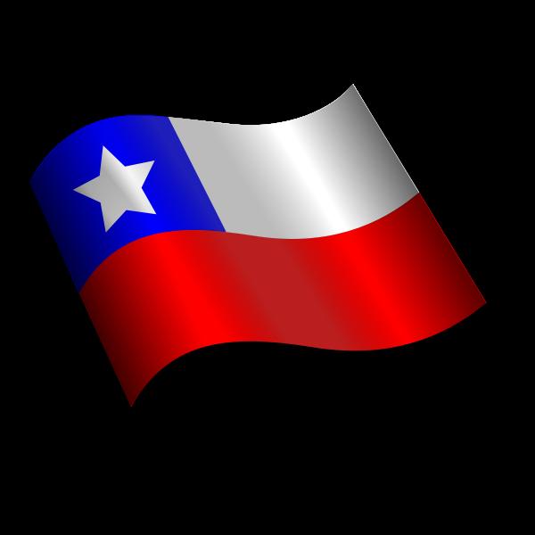 Tilted Chilean flag vector illustration