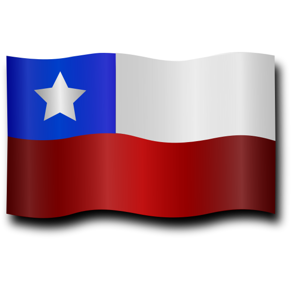 Windy Chilean flag vector clip art
