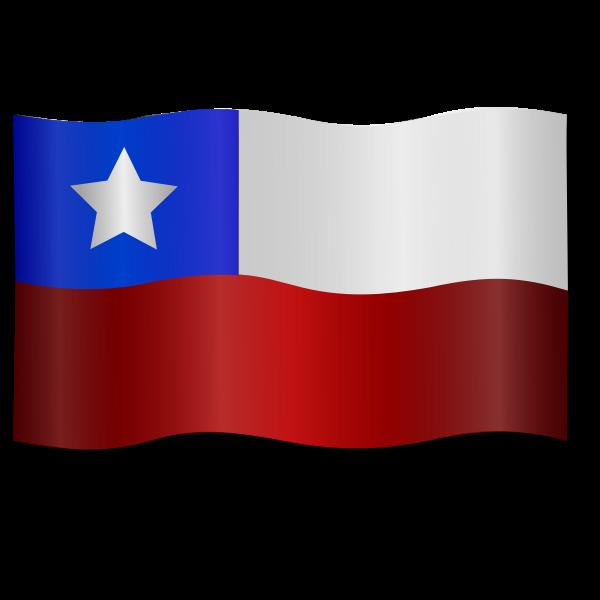 Windy Chilean flag vector clip art
