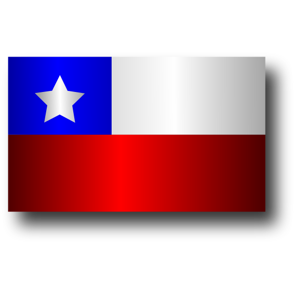 Flat Chilean flag vector graphics