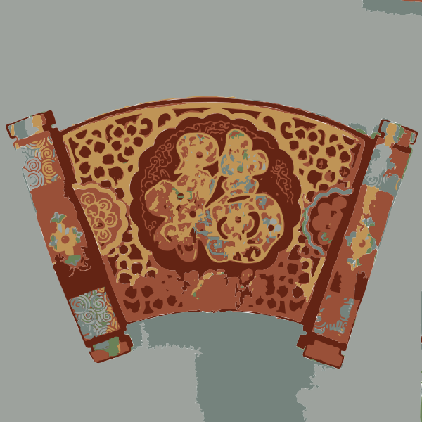 Chinese red scroll