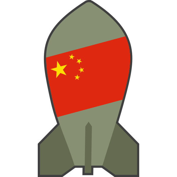 Vector clip art of hypothetical Chinese nuclear bomb