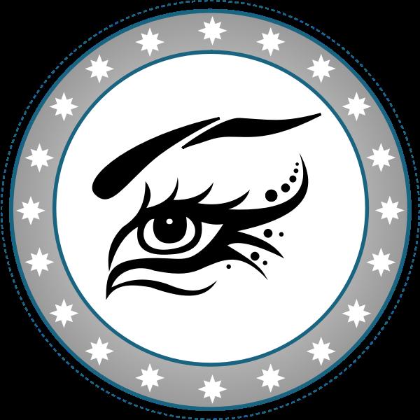 Bird eye logo vector image