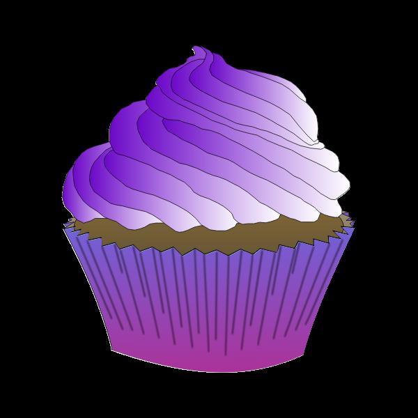 Chocolate Purple Cupcake