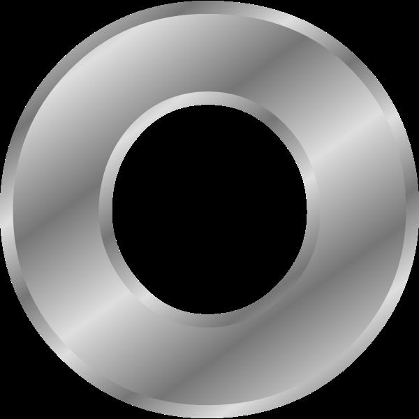Effect Letters alphabet silver