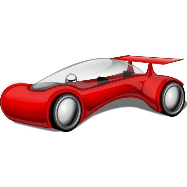 Futuristic red car vector illustration