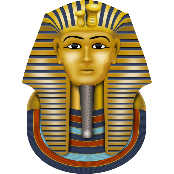 The mask of Tutankhamun vector illustration