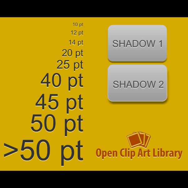 emboss light text filter