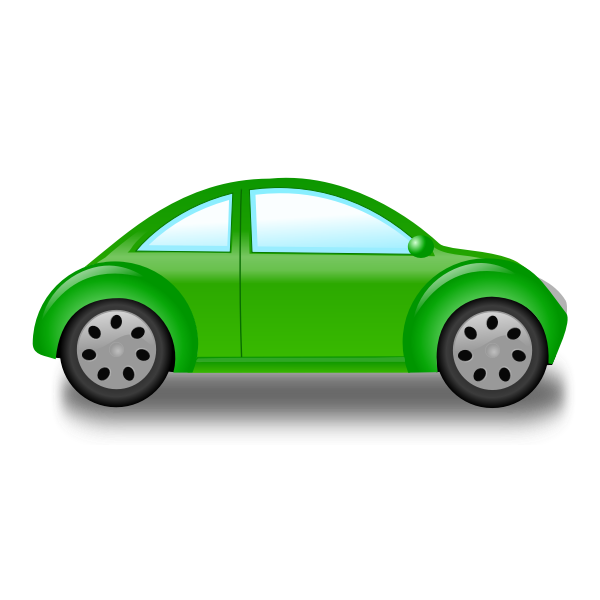 Small green car vector graphics
