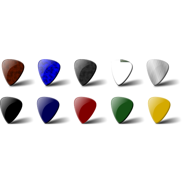 Guitar pick set vector clip art