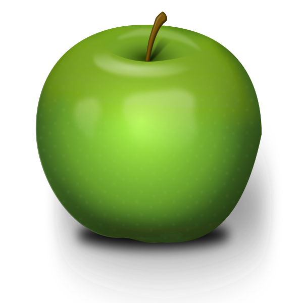 Photo-realistic Green Apple Vector