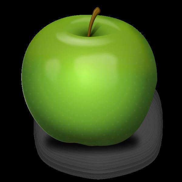 Photo-realistic Green Apple Vector