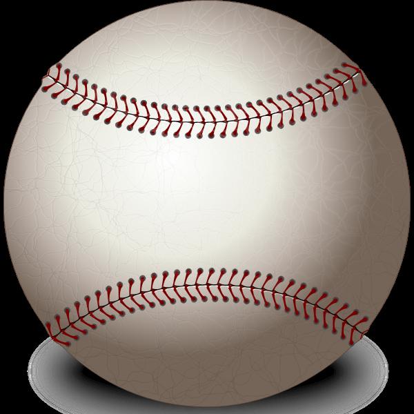 Photo-realistic vector image of baseball ball