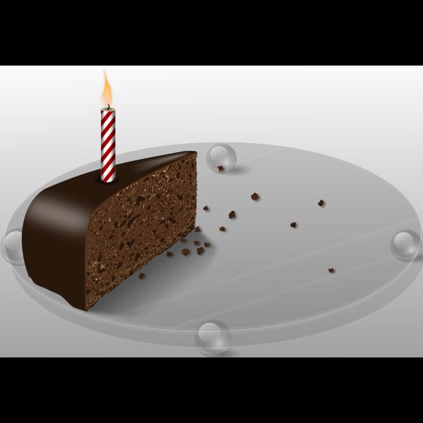 Last cake vector image