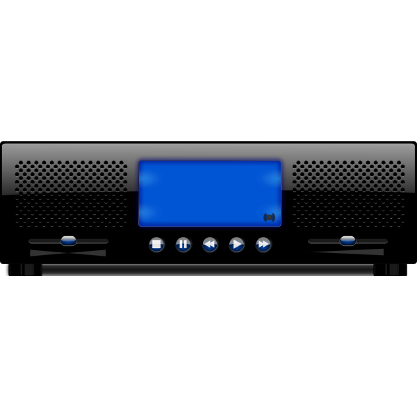 Music player vector clip art