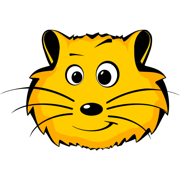 Hamster comic face vector image