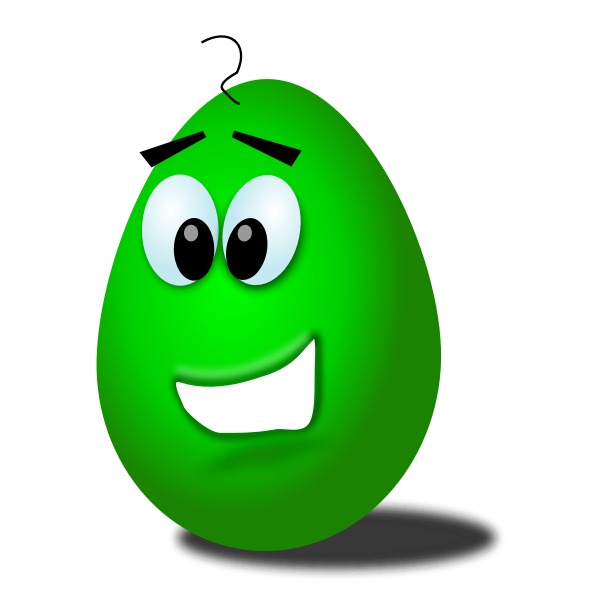 Green comic egg vector image