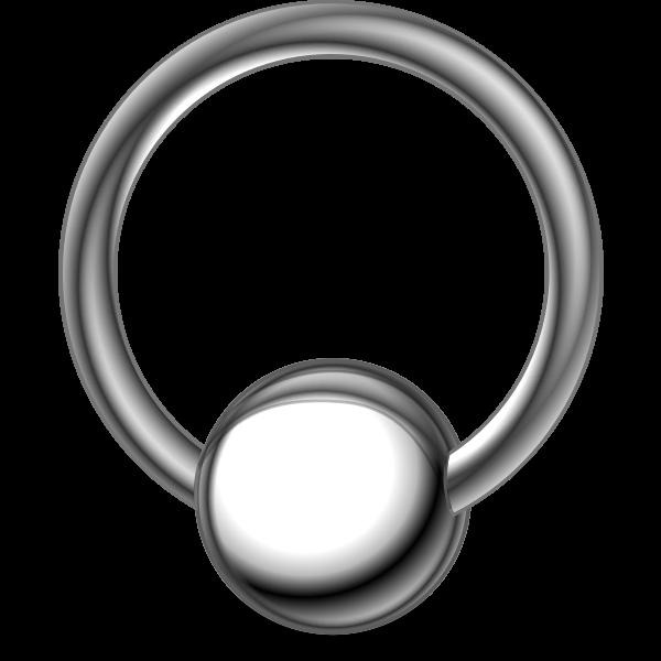 Body piercing ring vector illustration