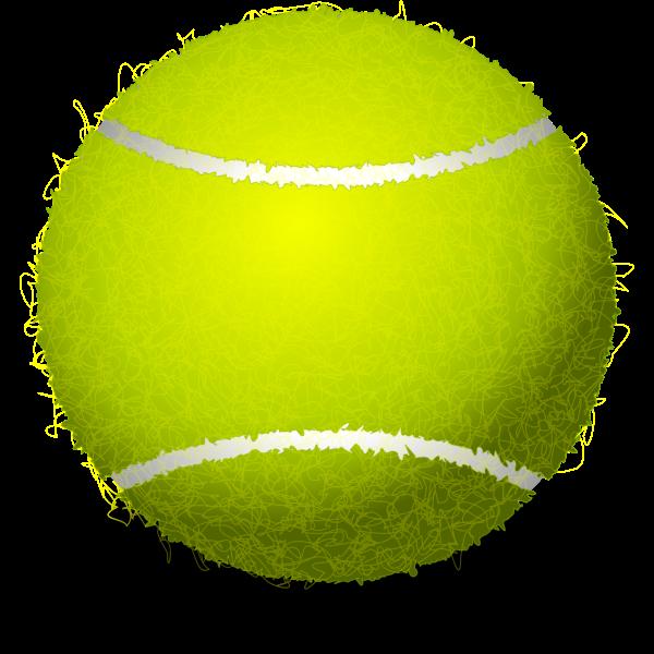 Tennis ball vector clip art