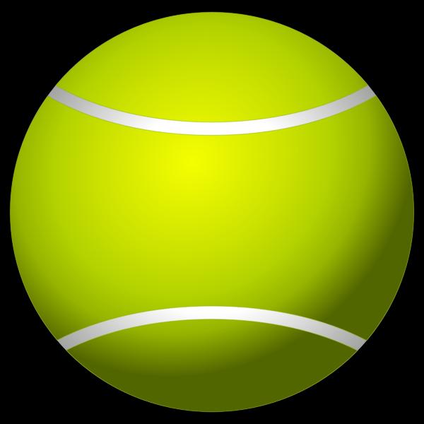 Tennis ball clip art vector image