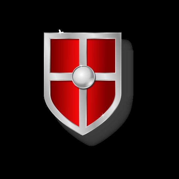 Vector illustration of old shield