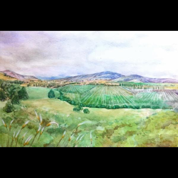 Landscape valley