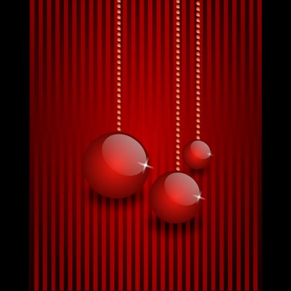 Red themed Christmas card vector clip art