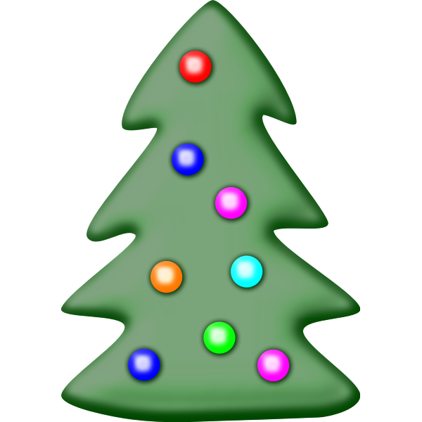 Christmas tree with star vector clip art