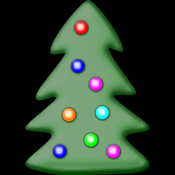 Christmas tree with star vector clip art