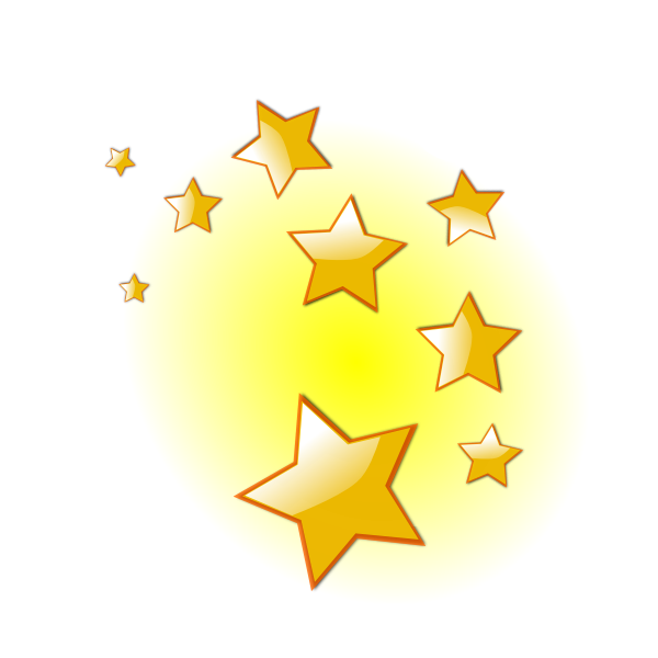 Decorative stars vector