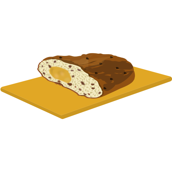 Christmas bread vector image