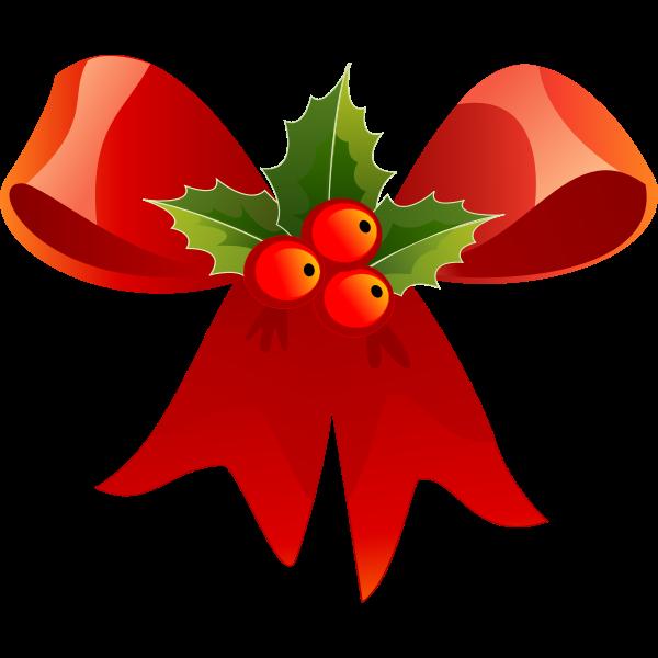 Vector image of Christmas ribbon