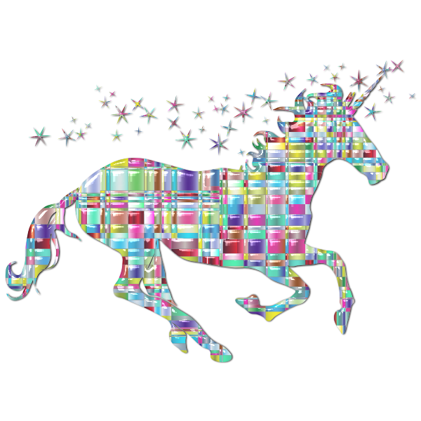 Chromatic checkered unicorn