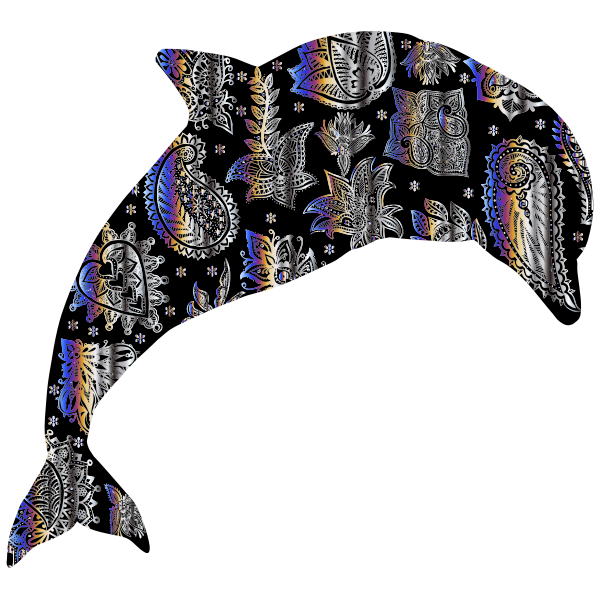 Chromatic Floral Pattern Dolphin 3