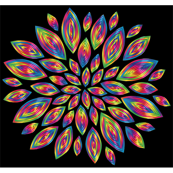 Chromatic Flower Petals 11 With Background