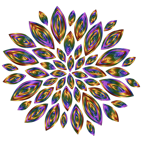 Chromatic Flower Petals 12
