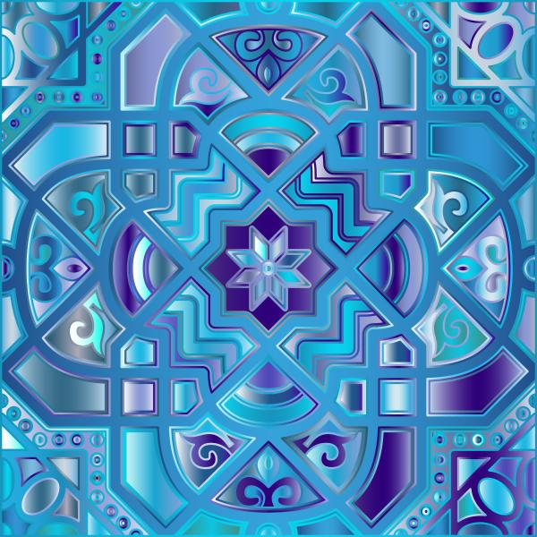 Chromatic Geometric Line Art 10