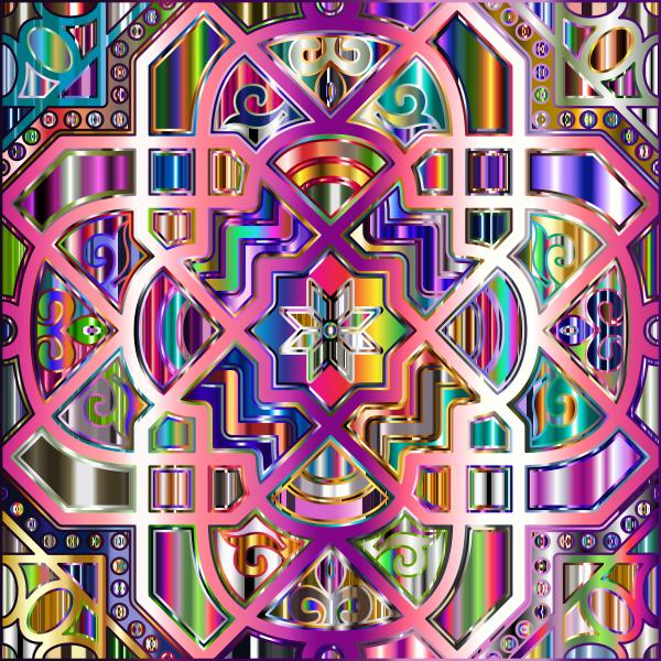 Chromatic Geometric Line Art 13