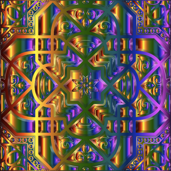 Chromatic Geometric Line Art 16