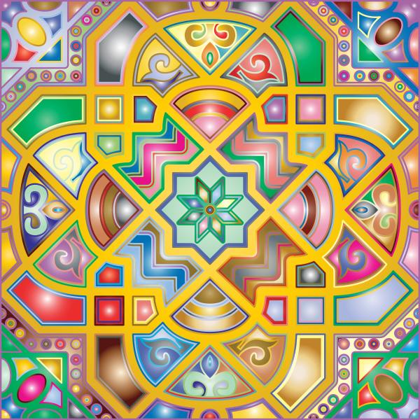Chromatic Geometric Line Art 2