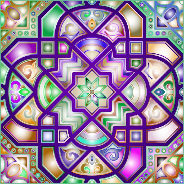 Chromatic Geometric Line Art 4