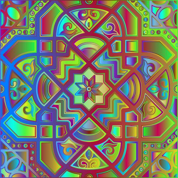 Chromatic Geometric Line Art 6
