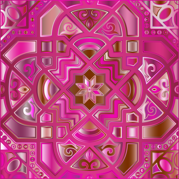 Chromatic Geometric Line Art 9