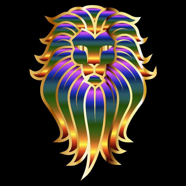 Chromatic Lion Face Tattoo 2