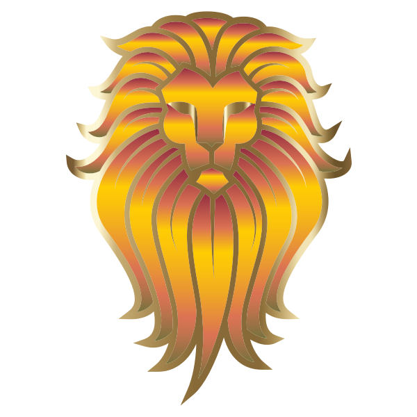 Chromatic Lion Face Tattoo 3 No Background