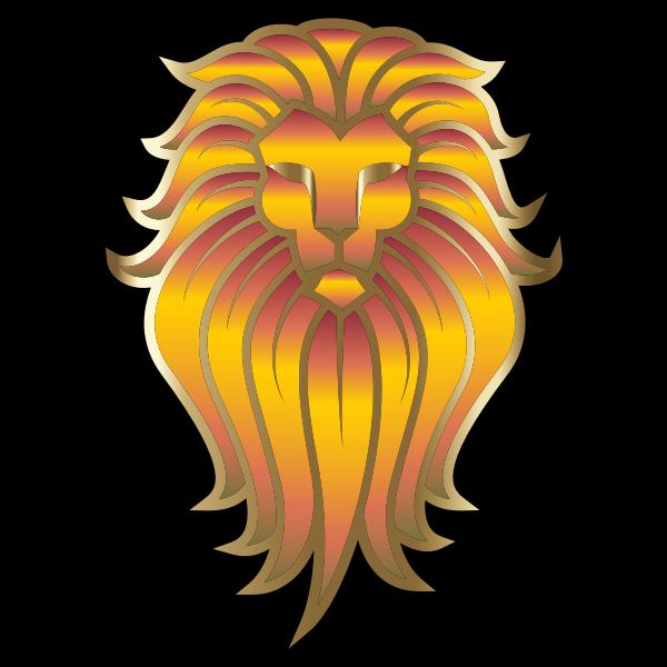 Chromatic Lion Face Tattoo 3