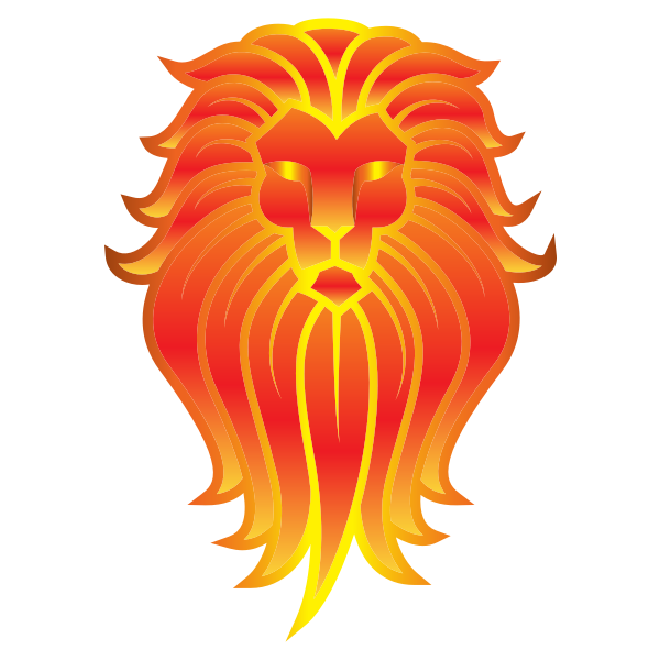 Chromatic Lion Face Tattoo 4 No Background
